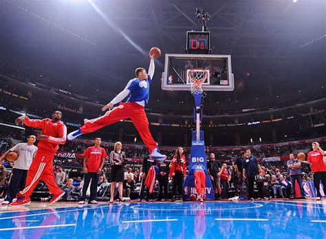 Blake Griffin Jumpman Pose During Clippers Warm Ups. Sick