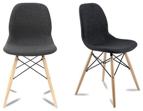 chaises design salle à manger lot de 2 chaises design doki doki couleur gris