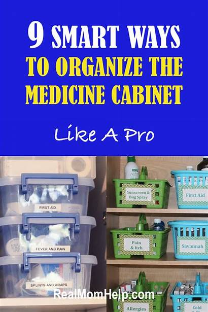 Medicine Cabinet Organize Ways Simple Realmomhelp Organization
