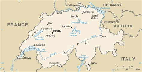 Carte Suisse by Schweiz Geographie Und Landkarte