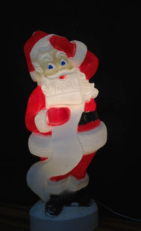 extra large  tall santa claus lighted plastic blow