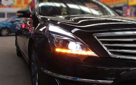 nissan altima headlights 2pcs xenon headlight led running light for nissan teana