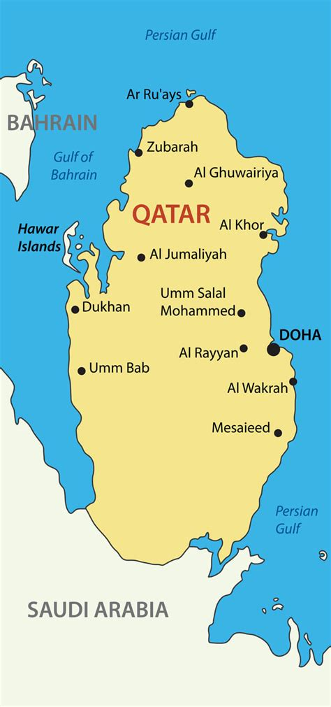 Qatar Map - Guide of the World