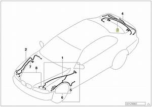 Bmw Series 5 E39 Boot Trunk Wiring Harness Loom 6936272