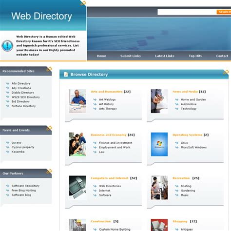 directory template free phpld templates ally web directory
