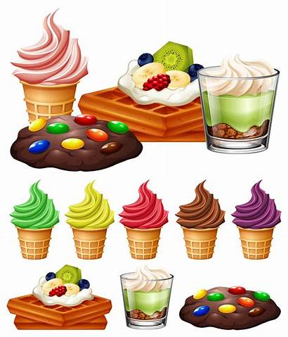 Desserts Types Different Vector Illustration Clipart Clip