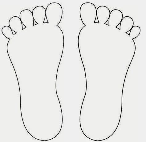 Footprints Template by Pegadas Textura Coordena 231 227 O Ensinar E Pegadas