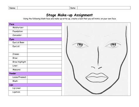 Theatrical Makeup Design Template by Best Theatrical Makeup Style Guru Fashion Glitz