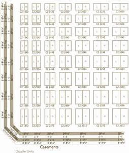 Window Sizes  Andersen Window Size Chart