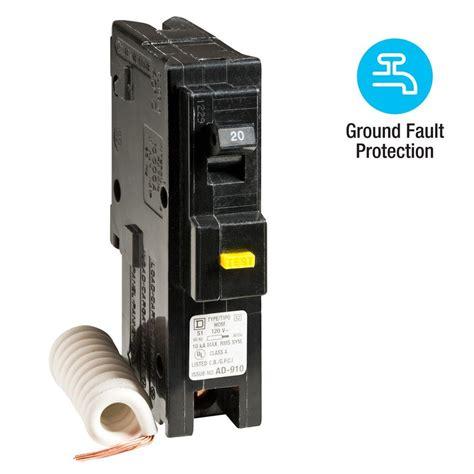 Square Homeline Amp Single Pole Gfci Circuit Breaker