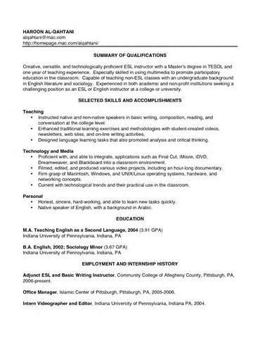 how to write a teaching resume with no experience