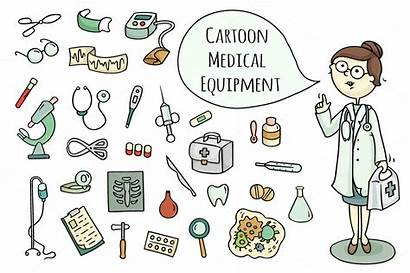 Doctor Cartoon Medical Equipment Objects Thehungryjpeg Object