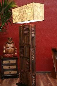 Designer Stehlampen Holz : stehlampe stehleuchte lampe rustikal designer holz landhausstil ~ Indierocktalk.com Haus und Dekorationen