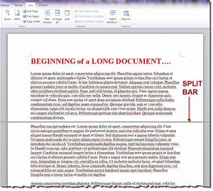 how to split view and edit two different parts of your With word documents split