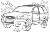 Coloring Ford Truck Escape Printable Bronco Boys 2003 Pickup Colorings Deviantart Template Lowrider Getdrawings Thebestcoloring Buzz sketch template