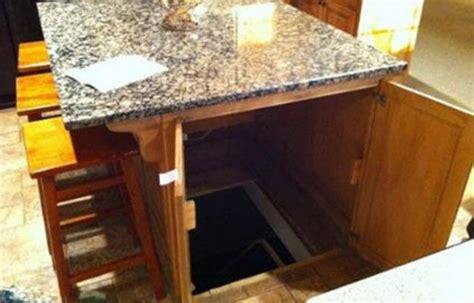 kitchen island secret passage diy home security for preppers badass shtf home defense 5151
