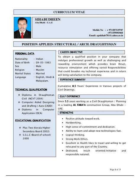Resume For Un by Curriculum Vitae