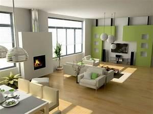 Wandfarbe Grau Grün : moderne wandfarben 40 trendige beispiele ~ Michelbontemps.com Haus und Dekorationen