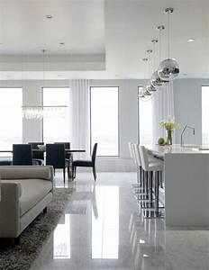 Resine Sol Blanc Brillant : 41 photos qui vont vous pr senter le carrelage brillant ~ Premium-room.com Idées de Décoration