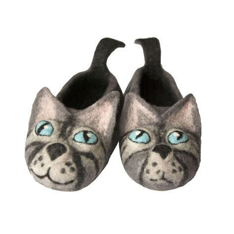 House Slippers Baby by Felted Grey Baby And Child Cats Slippers Made To Order