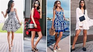 TRENDS 2018 FASHION | PRETTY SUMMER OUTFIT IDEAS | MINI DRESSES | FOR WOMEN - YouTube