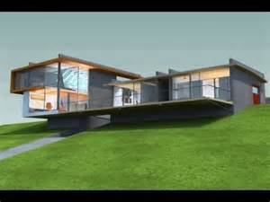 sloped lot house plans modern sloping lot house design