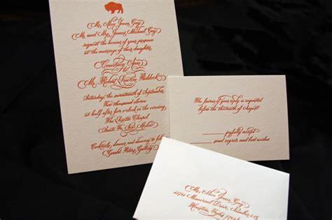 Paddock Letterpress Wedding Suite