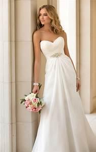 classic chiffon strapless wedding dress stella york With stella wedding dress