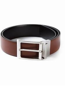 Ferragamo Square Buckle Belt in Brown for Men | Lyst