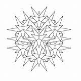 Kaleidoscope Coloring Mandala Pages Printable Books Last Q4 sketch template