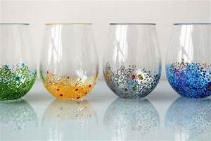 3 Simple Glass Painting Designs Created with Colorful Dots