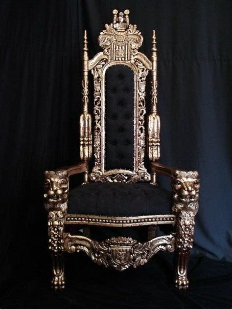 lion carved king chair   game room chairs furniture throne chair