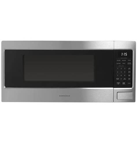 zemsjss monogram  cu ft countertop microwave oven monogram appliances