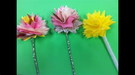 diy tissue paper flowers diy napkin flowers youtube