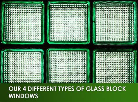 types  glass block windows