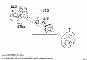 Toyota Avalon Disc Brake Rotor  Rear   A Single Disc Brake