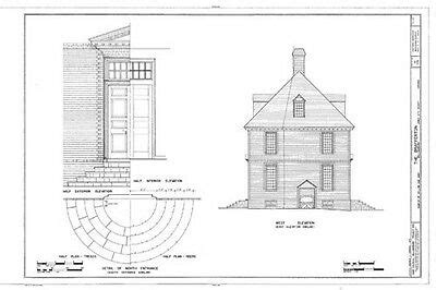 authentic williamsburg colonial house architectural home plans  picclick
