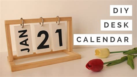make a desk calendar with pictures diy desk calendar youtube
