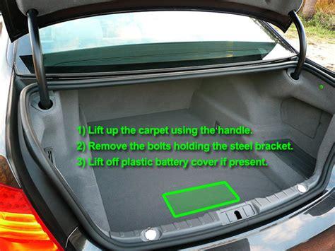 bmw  series car battery location