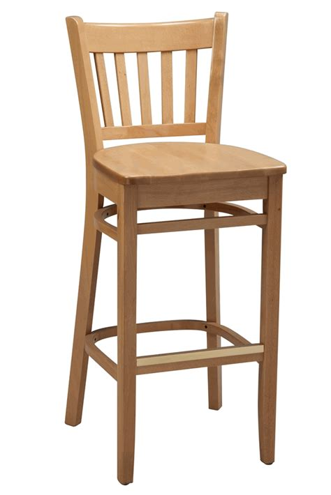 Wooden Bar Chairs With Backs by Regal Seating Series 2423 Vertical Back Wooden Counter