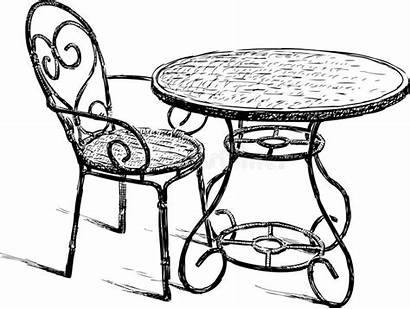 Chair Cafe Chaise Tableau Drawing Chairs Tabelle