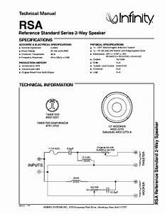 Infinity Rsa 150w Speaker System 1978 Sm Service Manual