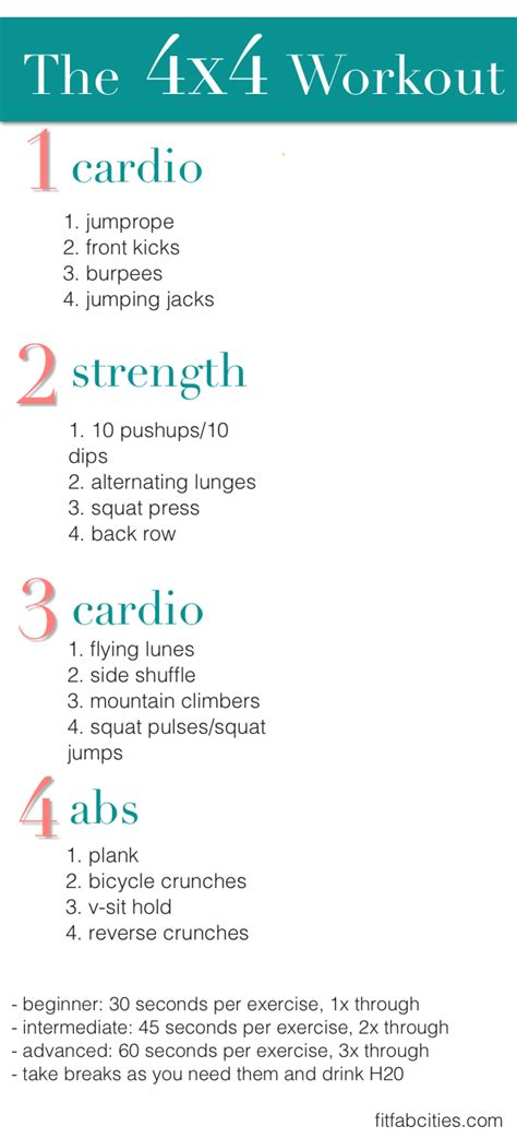 At Home Workout   Page 3