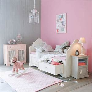 emejing idee deco chambre fille gris et rose images With chambre bebe fille rose