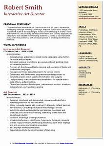 Build A Resume For Free And Download Art Director Resume Samples Qwikresume