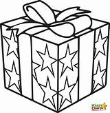 Coloring Box Gift Present Pages Getdrawings sketch template