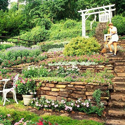 steep backyard ideas  pinterest garden ideas