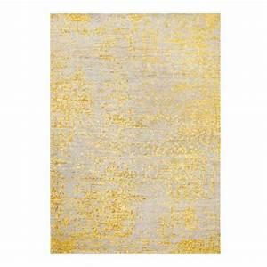 Tapis Jaune Et Noir : tapis jaune et gris tapis losanges gris et jaune tiss main en laine kaligrafik tapis d coratif ~ Teatrodelosmanantiales.com Idées de Décoration