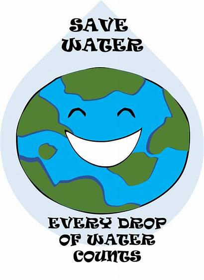 Clipart Water Save Poster Conservation Saving Posters