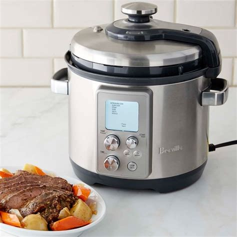 breville cooker slow fast pressure pro sonoma parts qt williams function multi electric brushed stainless steel cookers quick appliances induction